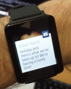 Android Wear notification